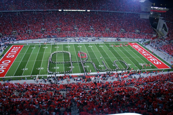 Sadly, the Buckeyes won't be heading to the Rose Bowl this year...